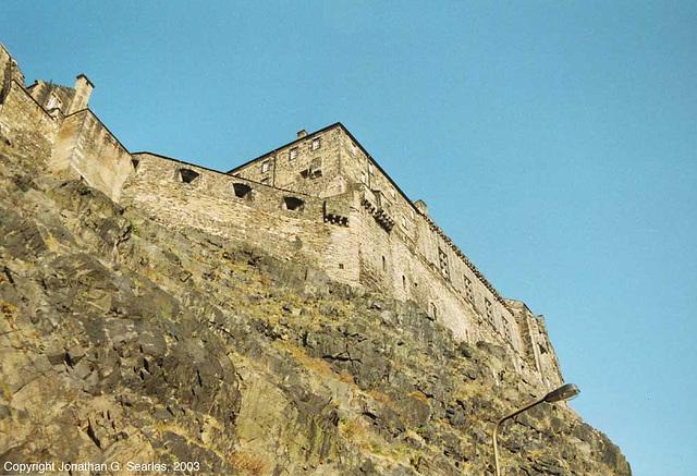 "Edinburgh Castle, original ""retro"" colors, Edinburgh, Scotland, 2003"