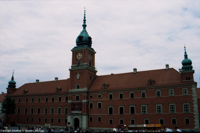 Front Entrance of the Royal Castle, Picture 2, Warsaw, Poland, 2007