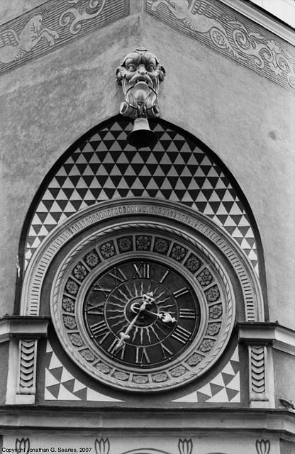 Building Clock, Starego Miasta, Warsaw, Poland, 2007