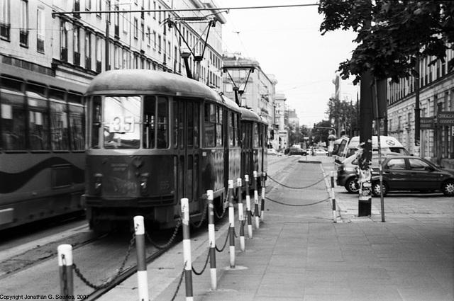 Old Tram at Politechnika, Picture 2, Warsaw, Poland, 2007