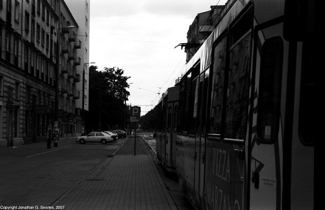 Waiting Tram at Politechnika, Picture 2, Warsaw, Poland, 2007