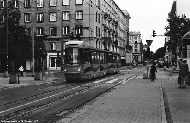 Tram Near Politechnika, Warsaw, Poland, 2007