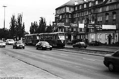 Trams At Nowowiejska and Chałubińskiego Intersection, Picture 2, Warsaw, Poland, 2007