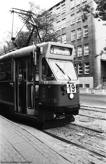 Warsaw Tram #436, Picture 2, Warsaw, Poland, 2007