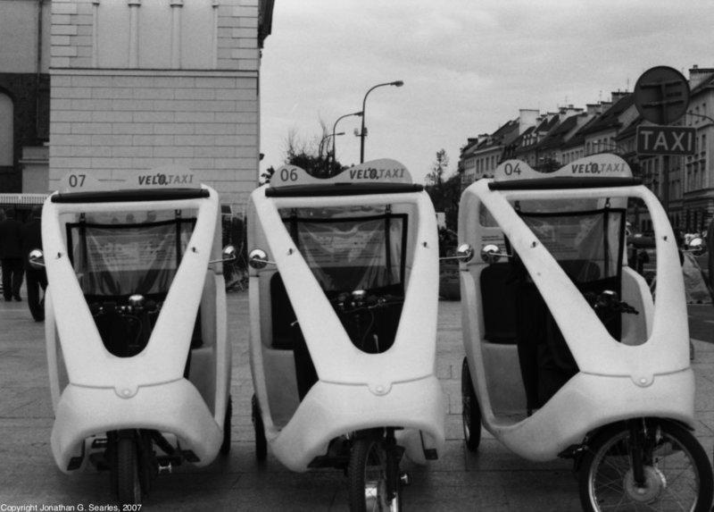 Bike Taxis, Warsaw, Poland, 2007