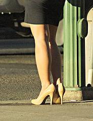 nine west heels in sunlight