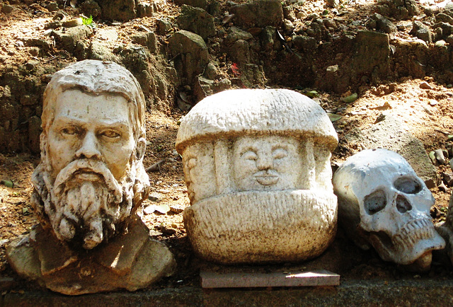 Heads of stone