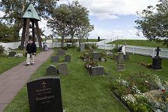 Friedhof der Kirchwarft Hallig Hooge