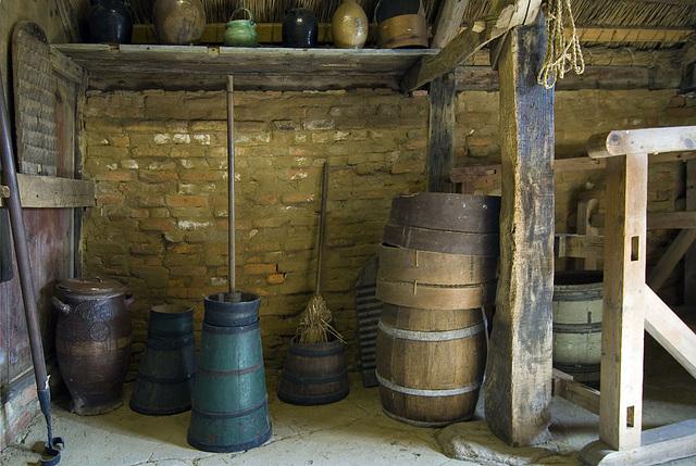 Ancient Frisian house interior