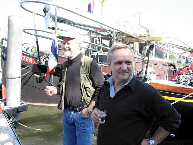 Abfahrt 18.Mai, Hans und Marc