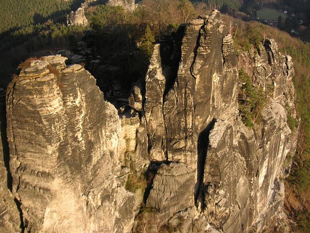 Bastei - die Kletterwände