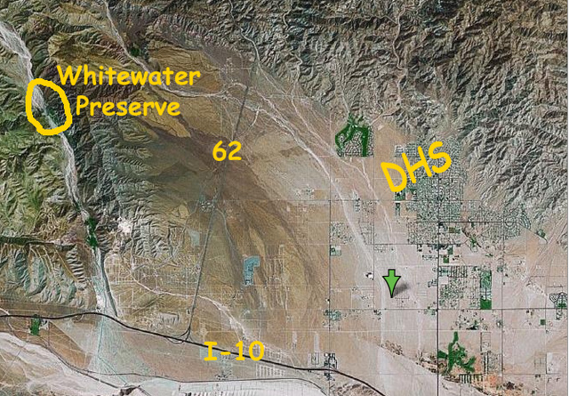 Whitewater Preserve Map