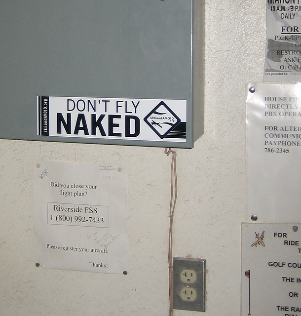 Don't Fly Naked (8474)