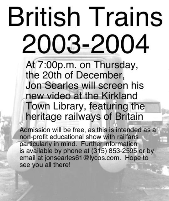 December 2007 NRHS Show Poster