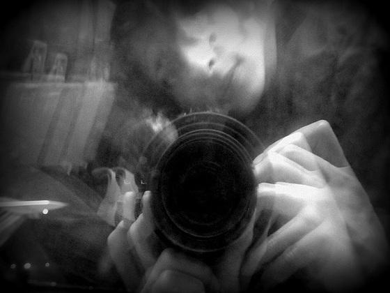 self in a porthole