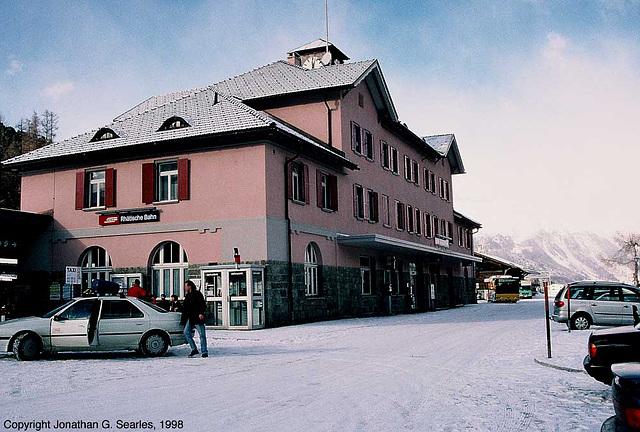Pontresina Bahnhof, Pontresina, Switzerland, 1998
