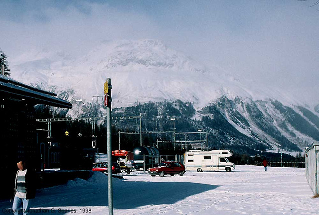 View From Pontresina Bahnhof Parking Lot, Pontresina, Switzerland, 1998