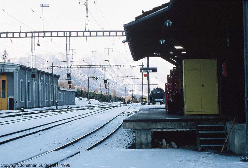 Pontresina Railway Yard, Pontresina, Switzerland, 1998