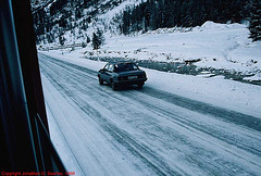 Pacing An Opel Ascona, Somewhere On The Bernina Express Route, Switzerland, 1998