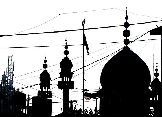 Silhouette with minaret
