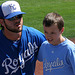 Mike Moustakas and Fan (9882)