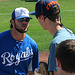 Mike Moustakas Signing Autographs (9880)