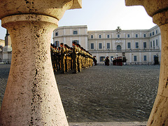 Rome, Palace Quirinal, guard's relieve