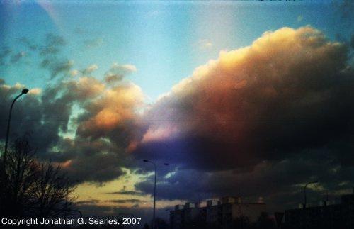 Sunset and Clouds, Picture 2, Sidliste Haje, Prague, CZ, 2007