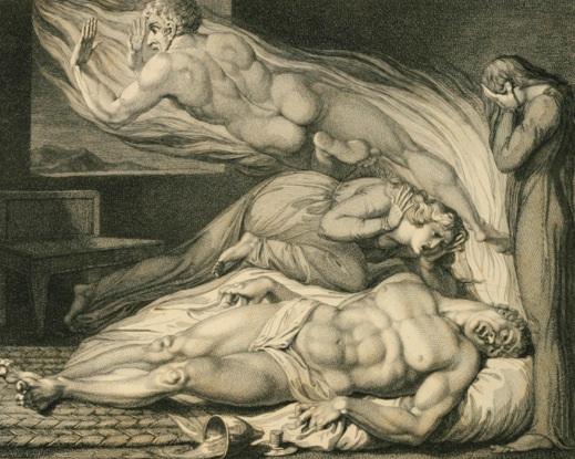 L'âme quitte le corps, œuvre de William Blake