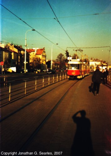 Tatra T3 Trams At Hradcanska, Picture 2, Prague, CZ, 2007