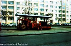 Tram Track Sealing Machine, Obchodni Dum Petriny, Prague, CZ, 2007
