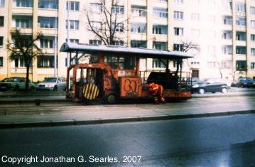 Tram Track Sealing Machine, Picture 2, Obchodni Dum Petriny, Prague, CZ, 2007