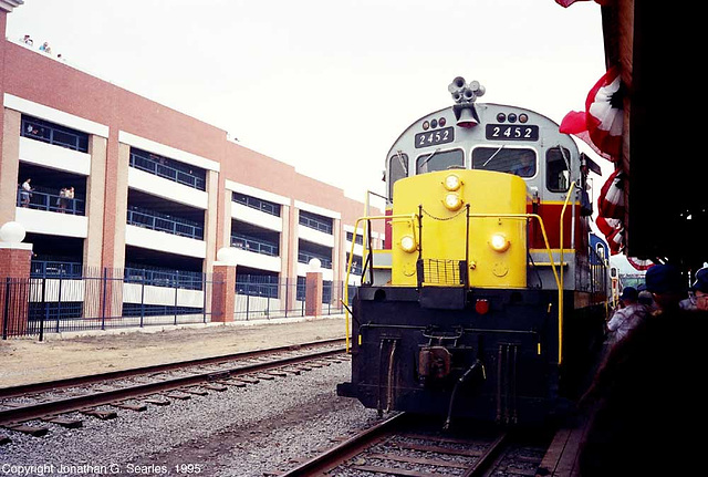 Delaware-Lackawanna #2452 At Steamtown During the 1995 NRHS Convention, Scranton, PA, USA, 1995