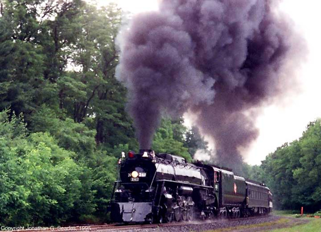 ex-Milwaukee Road #261 Doing A Photo Runby At the 1995 NRHS Convention, near Moscow, PA, USA, 1995