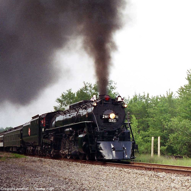 Ex-MilwaukeeRoad #261, Picture 5, near Pocono Summit, PA, USA, 1995