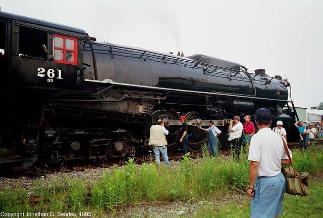 Ex-Milwaukee Road #261, Picture 8, Pocono Summit, PA, USA, 1995