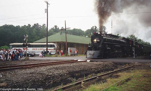 Ex-Milwaukee Road #261, Picture 10, Pocono Summit, PA, USA, 1995
