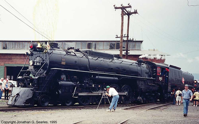 Ex-Milwaukee Road #261 At Steamtown During the 1995 NRHS Convention, Scranton, PA, USA, 1995
