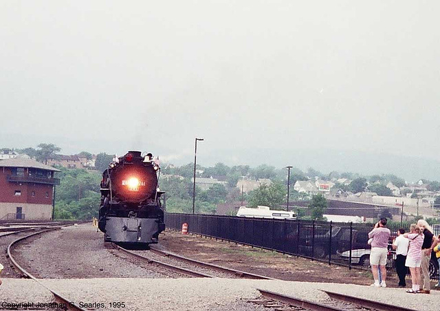 Ex-Milwaukee Road #261 At Steamtown During the 1995 NRHS National Convention, Picture 2, Scranton, PA, USA, 1995