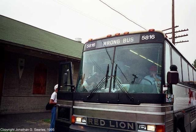 Wrong Bus, 1995 NRHS National Convention, Pocono Summit, PA, USA, 1995