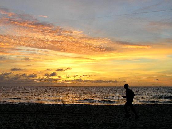 sunset jogger