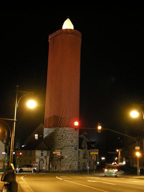 großes Kerzenlicht