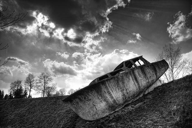 stranded boat.........