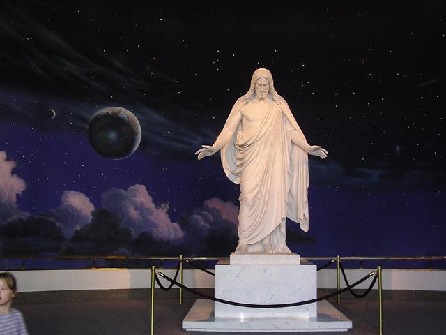 Temple Square - 11-foot marble Cristus Statue