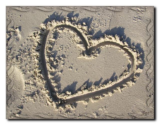 Herz aus Sand