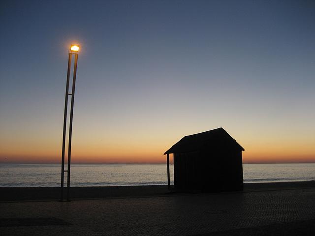 Algarve,  Quarteira, sea sidewalk
