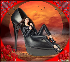 Création Valériane - Douceur d'une chaussure /  Shoe's softness.