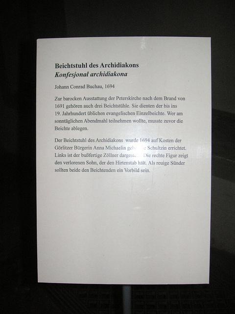Görlitz - Beichtstuhl