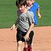 Kids Running The Bases at Hohokam Stadium (0726)