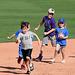 Kids Running The Bases at Hohokam Stadium (0727)